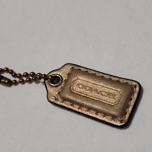 Gold Coach Wallet / Make-Up bag Tag